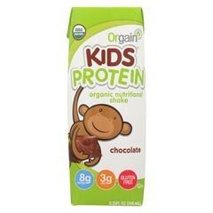 HGR01189760 - Orgain - Organic Nutrition Shake - Chocolate Kids - 8.25 fl oz. - Case of 12