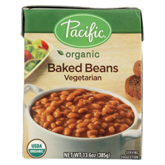 HGR01224641 - Pacific Natural FoodsBaked Beans - Vegetarian - Case of 12 - 13.6 oz.