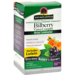 HGR0122937 - Nature's AnswerBilberry Vision Complex Plus Lutein - 60 Vegetarian Capsules