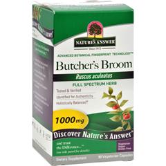 HGR0123562 - Nature's AnswerButchers Broom Root - 90 Vegetarian Capsules