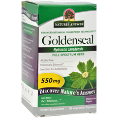 HGR0123919 - Nature's AnswerGoldenseal Root - 50 Vegetarian Capsules
