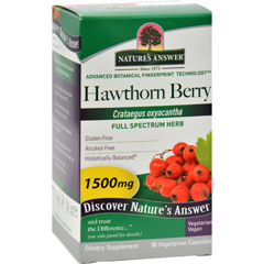 HGR0123943 - Nature's AnswerHawthorn Berry - 90 Vegetarian Capsules