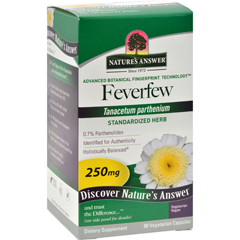 HGR0124347 - Nature's AnswerFeverfew Herb - 90 Vegetarian Capsules