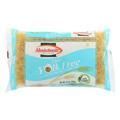 HGR0124727 - Manischewitz - Yolk Free Fine Noodles - Case of 12 - 12 oz..