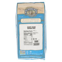 HGR0126284 - Lundberg Family Farms - Brown Short Grain Rice - Case of 25 lbs