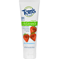 HGR0127191 - Tom's of MaineChildrens Natural Fluoride Toothpaste Silly Strawberry - 4.2 oz - Case of 6