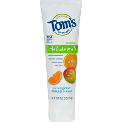 HGR0127258 - Tom's of MaineChildrens Natural Fluoride Toothpaste Outrageous Orange Mango - 4.2 oz - Case of 6