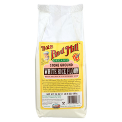 HGR01310267 - Bob's Red MillOrganic Bobs White Rice Flour - Case of 4 - 24 oz.