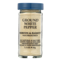 HGR0134726 - Morton and Bassett - Seasoning - Pepper - Ground - White - 2.3 oz.. - Case of 3