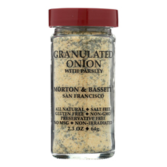 HGR0134767 - Morton and Bassett - Seasoning - Onion with Parsley - Granulated - 2.3 oz.. - Case of 3