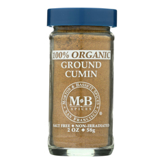 HGR0135376 - Morton and Bassett - Organic Ground Cumin - Cumin - Case of 3 - 2 oz..