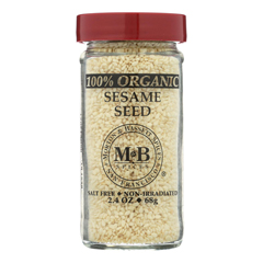 HGR0135673 - Morton and Bassett - 100% Organic Seasoning - Sesame Seed - 2.4 oz.. - Case of 3