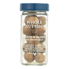 HGR0136275 - Morton and Bassett - Seasoning - Nutmeg - Whole - 2.2 oz.. - Case of 3
