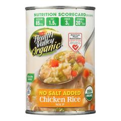 HGR0138404 - Health Valley Natural Foods - Chicken Rice No Salt Added - Case of 12 - 15 oz..