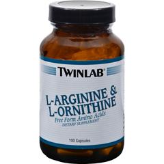 HGR0140046 - Twinlab - L-Arginine and L-Ornithine - 100 Capsules