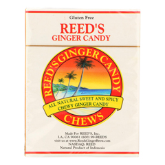 HGR0144261 - Reed's Ginger Beer - Chewy Ginger Candy Rolls - Case of 20 - 2 oz.