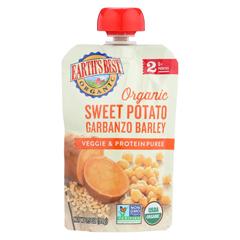 HGR01507433 - Earth's BestOrganic Sweet Potato Garbanzo Barley Veggie and Protein Puree - Stage 2 - Case of 12 - 3.5 oz.