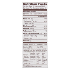 HGR01516806 - Back To NatureSesame Seed Rice Thin Crackers - Rice and Sesame Seeds - Case of 12 - 4 oz.
