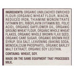 HGR01516921 - Back To NatureCrackers - Organic Stoneground Wheat - Case of 6 - 6 oz.