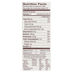 HGR01516954 - Back To NatureClassic Round Crackers - Safflower Oil and Sea Salt - Case of 6 - 8.5 oz.