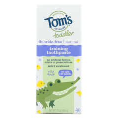 HGR01538420 - Tom's Of MaineToothpaste - Toddler Training - Natural - Fluoride Free - Mild Fruit - 1.75 oz. - Case of 6