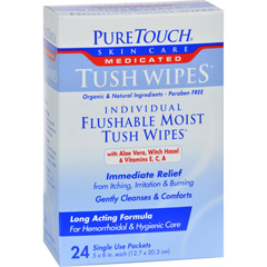 HGR0155374 - Puretouch Skin CarePuretouch Individual Flushable Moist Tush Wipes - 24 Packets