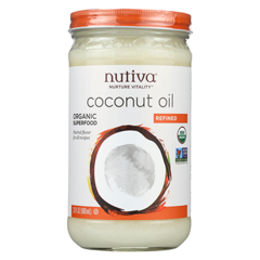 HGR01559731 - Nutiva - Organic Coconut Oil - Refined - Case of 6 - 23 Fl oz.