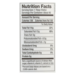 HGR01559731 - NutivaOrganic Coconut Oil - Refined - Case of 6 - 23 Fl oz.
