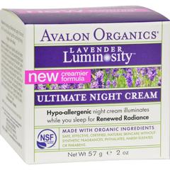 HGR0156174 - AvalonOrganics Ultimate Night Cream Lavender Luminosity - 2 oz