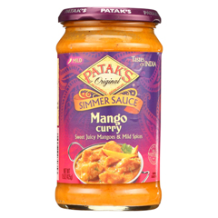 HGR0160093 - Patak's - Simmer Sauce - Mango Curry - Mild - 15 oz.. - case of 6