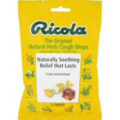 HGR0161596 - RicolaHerb Throat Drops Original - 21 Drops - Case of 12