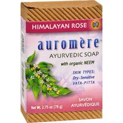 HGR0165654 - AuromereAyurvedic Bar Soap Himalayan Rose - 2.75 oz