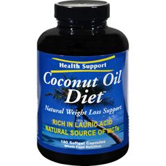 HGR0173534 - Health SupportCoconut Oil Diet - 180 Softgel Capsules