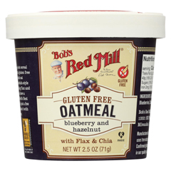 HGR01770593 - Bob's Red MillGluten Free Oatmeal Cup, Blueberry and Hazelnut - 2.5 oz. - Case of 12