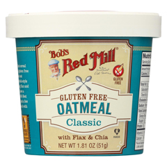 HGR01770619 - Bob's Red MillGluten Free Oatmeal Cup, Classic with Flax/Chia - 1.81 oz. - Case of 12