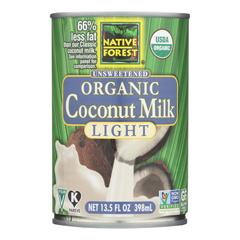 HGR0177139 - Native Forest - Organic Light Milk - Coconut - Case of 12 - 13.5 Fl oz..