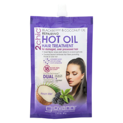 HGR01780881 - Giovanni Hair Care Products2Chic Hot Oil Hair Treatment - Blackberry and Coconut Giovanni - Case of 12 - 1.75 Fl oz.
