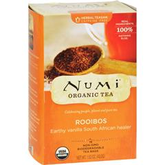 HGR0179937 - Numi - Red Mellow Bush Rooibos Tea - 18 Tea Bags - Case of 6