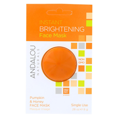 HGR01800549 - Andalou NaturalsInstant Brightening Face Mask - Pumpkin & Honey - Case of 6 - 0.28 oz.