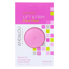 HGR01800564 - Andalou NaturalsInstant Lift & Firm Face Mask - Marula Oil & French Clay - Case of 6 - 0.28 oz.