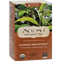 HGR0180059 - Numi - Chinese Breakfast Yunnan Black Tea - 18 Tea Bags - Case of 6