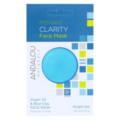 HGR01800598 - Andalou NaturalsInstant Clarity Face Mask - Argan Oil & Blue Clay - Case of 6 - 0.28 oz.