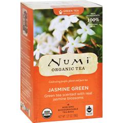 HGR0180158 - NumiOrganic Tea Jasmine Green - 18 Tea Bags - Case of 6