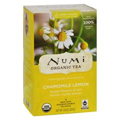 HGR0180273 - Numi - Caffeine Free Chamomile Lemon - 18 Tea Bags - Case of 6