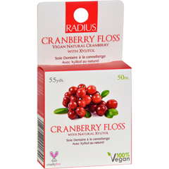 HGR0180786 - RadiusVegan Cranberry Floss - 55 yards - Case of 6