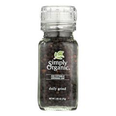 HGR0182113 - Simply Organic - Daily Grind Black Peppercorns - Organic - Grinder - 3 oz.