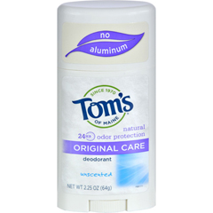 HGR0182824 - Tom's of MaineNatural Original Deodorant Unscented - 2.25 oz - Case of 6