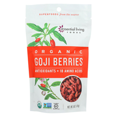HGR01829456 - Essential Living Foods - Goji Berries - Antioxidant - Case of 6 - 6 oz.
