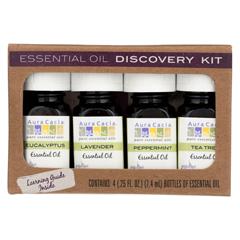 HGR01830975 - Aura Cacia - Essential Oil - Discovery Kit - 0.25 FL oz.