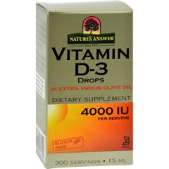 HGR0183186 - Nature's Answer - Vitamin D-3 Drops - 4000 IU - 0.5 fl oz